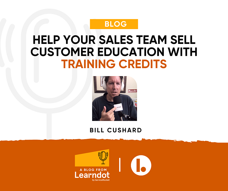 Help sales teams sell customer training with training credits