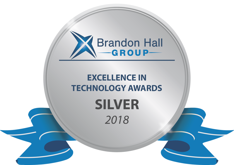 It's official! We won silver in the Brandon Hall Group Excellence in Technology awards